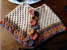 Best 12 Girls Flower Poncho-Kids-Fall Fashion-Crochet by ThreadedSoul – SkillOfKing.Com Best 12 Girls Flower Poncho-Kids-Fall Fashion-Crochet by ThreadedSoul – SkillOfKing. Crochet Baby Poncho, Crochet Poncho Patterns, Crochet Baby Clothes, Crochet Stitches, Baby Knitting, Knitting Patterns, Crochet For Kids, Diy Crochet, Crochet Crafts
