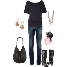 Simple but would love black riding boots instead... cute!