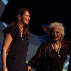Amanda Tapping & Nichelle Nichols  FedCon 2014  2 of the most inspiring women I have ever had the honour of meeting.   (C) Jessica Rens Photography 2014