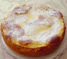 Bei mir brauchte der Kuchen etwas ca. 10 min… Swedish pear cake made! For me the cake needed about 10 minutes … – cake Cake Recipes With Pictures, German Baking, Pear Cake, Sweet Bakery, Sweets Cake, Food Cakes, Cakes And More, Cake Cookies, Yummy Cakes