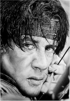 Celebrity Pencil Drawings - Sylvester Stallone