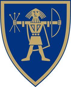 Coat of arms of the Norwegian municipality of Ullensaker, Norway.