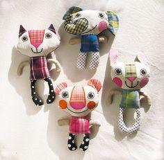 Katka Hubacek - Recycled Fabric Doll Patchwork by KatkalandCreatures #softie