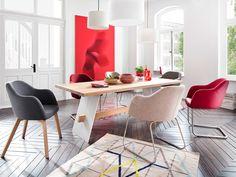 Esszimmerstuhl Levi in 3 Farben mit Beinen in Eiche oder Edelstahl #levi #stuhl #stühle #eiche #stoff #edelstahl #kufe #grau #hellgrau #dunkelgrau #anthrazit #hellblau #blau #eisblau #nordisch #skandinavisch #design