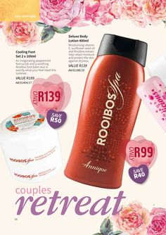 February 2018 Beaute | Annique Health & Beauty Specials. Purchase these Monthly  specials from our Rooibos-Miracle Online Store. #annique #rooibos #rooibosmiracle #skincare #cosmetics #diet #naturalremedies Spa, Miracle, Vitamin E, Body Lotion, Peppermint, Natural Remedies, The Balm, February, Health And Beauty
