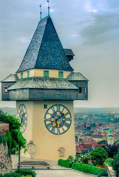 Famous Watch Tower by ChristianThür Photography on Creative Market Architecture Photo, Austria, Big Ben, Photos, Pictures, Tower, City, Building, Creative