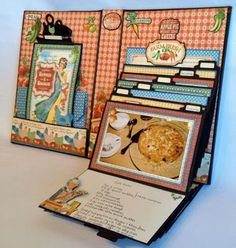 How to make the Home Sweet Home Recipe Mini Album video tutorial and measurements | annes papercreations | Bloglovin'