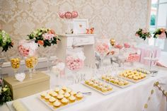 Sweet table, rose gold, blush pink #weddinginspiration #sweettable #pinkblushwedding Party Planning, Wedding Planning, Pink Photo, Diy Party, Vienna, Austria, Blush Pink, Wedding Cakes, Castle
