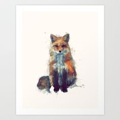 Fox Art Print by Amy Hamilton - $17.00