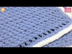 Learn how to do a very simple crochet baby blanket. This is simple enough for beginners to make it their very first project. Follow along and get the free instructions if you need it at http://thecrochetcrowd.com/crochet-baby-blanket-for-beginners/