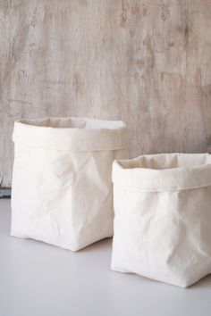 Fabric Storage Baskets. Type Of Paper Creases. Bag. Bin. White Home Decor