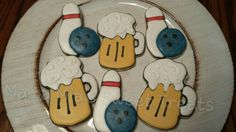 Bowling and beer cookies