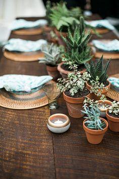 Wedding Centerpiece Idea We Love: Potted Plants | http://Brides.com