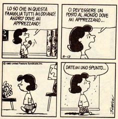 La filosofia dei Peanuts added a new photo — with Ilaria Faucci and Federica Frattino. Snoopy Comics, Romance Novel Covers, Romance Novels, Brown Co, Lucy Van Pelt, Crochet Butterfly, Peanuts Snoopy, Calvin And Hobbes, Bucky Barnes
