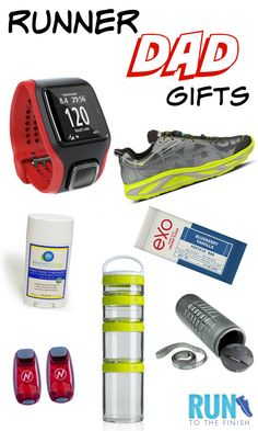 Gifts for dads who run - Father's Day running gift ideas - click for details on each