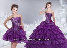 Lilanes Ballkleid mit Blumen Stickereien Brautkleid Abendkleid Online