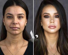 Antes e depois - transformação maquiagem - #lacremania