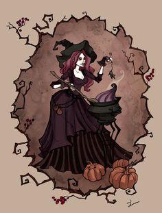 Cooking Witch by IrenHorrors.deviantart.com on @deviantART