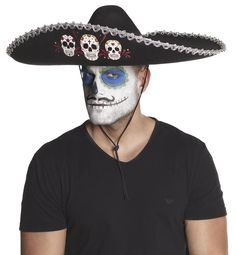 Day of the dead -sombrero