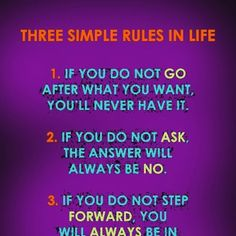 Do you know which are the simple rules in life??? -Mental Health Center-