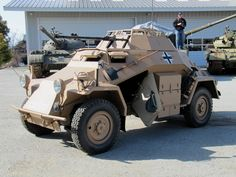 A restored SdkKz 222 armored car