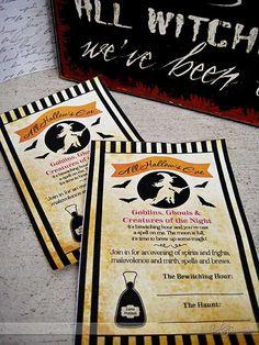 Cute invitation for a Hocus Pocus movie night- FREE download too!