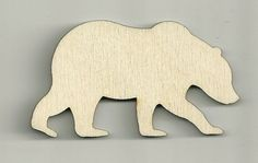 Bear Craft Bear Shape Baby Mobile Grizzly by BPLaserEngraving
