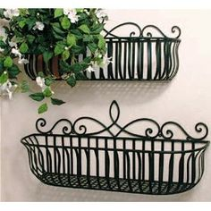I want these wrought iron planters/baskets for my pantry