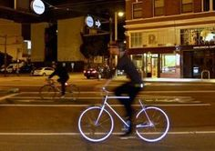 Glow-in-the-Dark Bike Could Help Save Lives Design News | Apartment Therapy