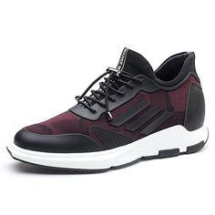 CHAMARIPA Men's Height Increasing Burgundy Elevator Sneak..#sneakersletstalkfashion Burgundy Sneakers, Adidas Sneakers, Stylish, Casual, Stuff To Buy, Men, Shoes, Black, Fashion