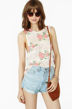 Rosebud Knit Tank in Clothes Tops at Nasty Gal