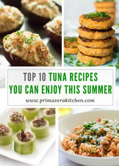 Top 10 Tuna Recipes That You can Enjoy This Summer are very quick to make, simple, fresh and it are nutritions without compromising flavor. You will love them! Tuna Recipes, Seafood Recipes, Healthy Appetizers, Appetizer Recipes, Kitchen Recipes, Gourmet Recipes, Delicious Recipes, Healthiest Seafood, Recipes