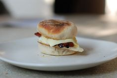 Mini homemade egg mcmuffin