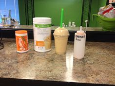 HERBALIFE. Orange dream wow shake.  Vanilla. Protein drink mix. Aka PDM. Orange dream Healthy meal. Frozen orange juice. Orange jello. The jello is Sugar free. Fat free. So yummy and good for you. The whole shake has 24 grams of protein. And under 300 calories. Go HERBALIFE!!! Love it.:):):)
