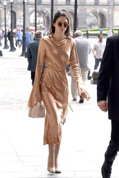 WHO: Kendall Jenner WHAT: Bec & Bridge dress, Oliver Peoples x The Row sunglasses, Givenchy bag, and Acne Studios shoes WHERE: On the street, Paris WHEN: June 24, 2016