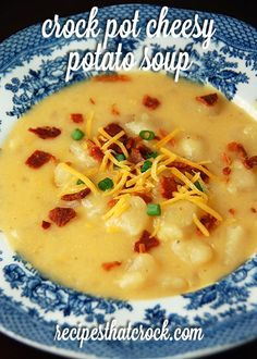 Do you love a good potato soup? Then you have to try this Crock Pot Cheesy Potato Soup from Gooseberry Patch's Slow-Cooker Fall Favorites.