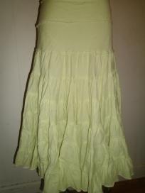 Newport Juniors Size Large - Pale Green Layered Bohemian / Gypsy Skirt - FREE SHIPPING!