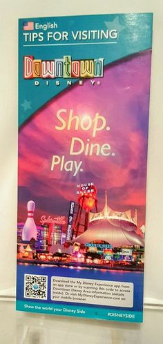 DISNEY WORLD DOWNTOWN DISNEY TIPS GUIDE MAP (OUT OF PRINT)