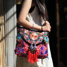 Bells & Whistles Hmong Embroidered Handbag