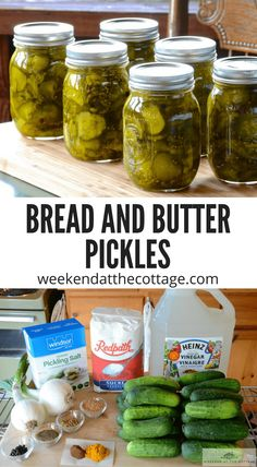 Pickling Cucumbers, How To Pickle Cucumbers, Preserving Cucumbers, Pickled Cucumbers And Onions, Pickling Spices, Bread & Butter Pickles, Bread N Butter Pickle Recipe, Cucumber Recipes, Vinegar