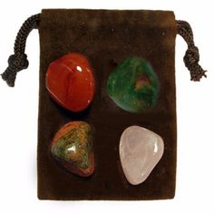 The FERTILITY Energy Set is a powerful set of four genuine gemstones specially chosen for their individual energies and properties that when used together bring enlightenment, and empowerment to body,