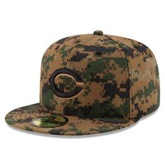 Cincinnati Reds New Era 2016 Memorial Day 59FIFTY Fitted Hat - Digital Camo - $37.99