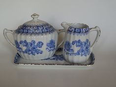 Vintage Rossblau China Blau blue by OurBarefootCottage on Etsy