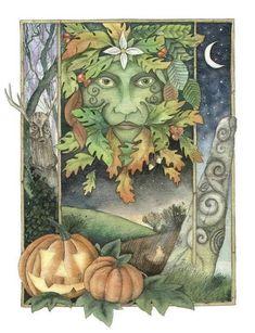 samhain sabbat card by Christopher Bell