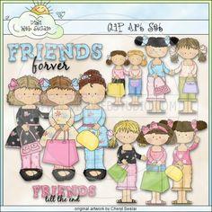 Friends Forever 1 - Clip Art by Cheryl Seslar