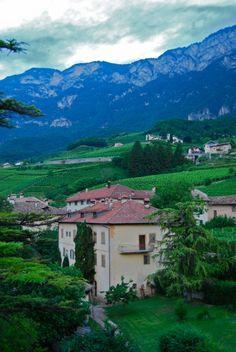 Turnhotel Schwarz Adler in Trentino-Alto Adige, along the Strada del Vino http://duespaghetti.com/2012/07/22/the-wineries-of-northern-italy-tretino-alto-adige-and-alois-lageder/#