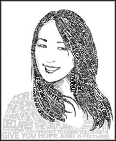 Art. Paper. Scissors. Glue!: Micrography Portrait