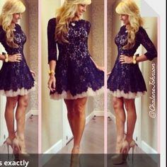 Black Lace Dress $150