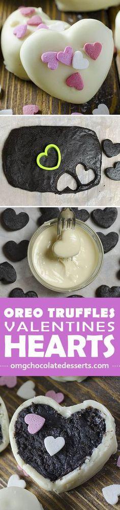 Co cute and creative Valentines idea! Heart shaped Oreo Truffles. My next Valentines treat project.