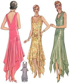 style evening dress patterns and designs